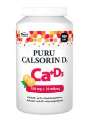 PURU CALSORIN D3 500 MG + 20 MIKROG 100 PURUTABL