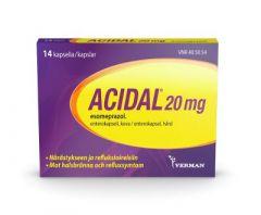 ACIDAL 20 mg enterokaps, kova 14 fol
